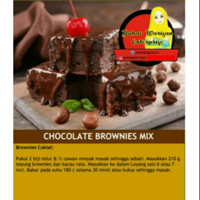 Tepung Kek Choklate Brownies 250g