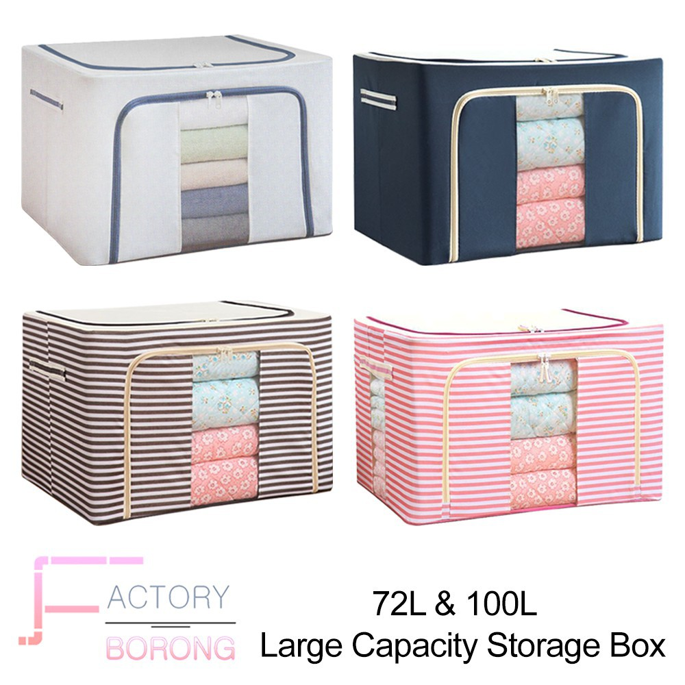 d71422185 Foldable Round Home Organizer Cotton Storage Baskets Bag For Baby  Nursery,Toys,Laundry,Baby Clothing | Shopee Malaysia