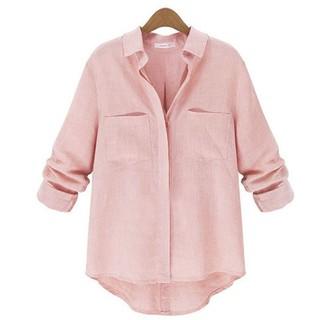 Ready stock ZANZEA Fashion Women Casual  Long Sleeved Collar Shirt blouse