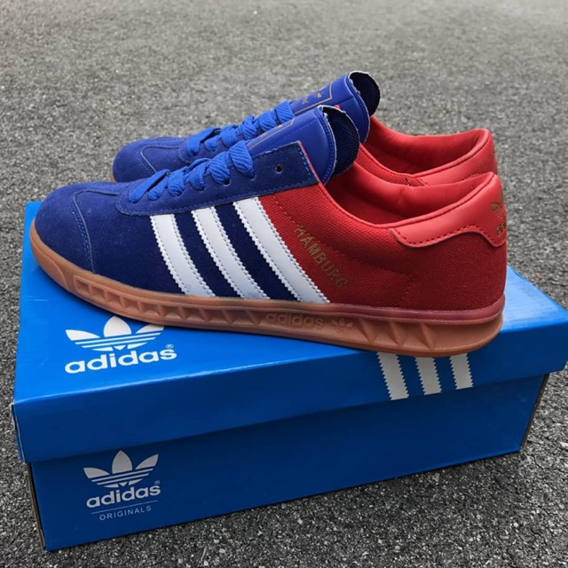 Secretar golpear naranja  READY STOCKS] ADIDAS HAMBURG BLUE RED NEW | Shopee Malaysia