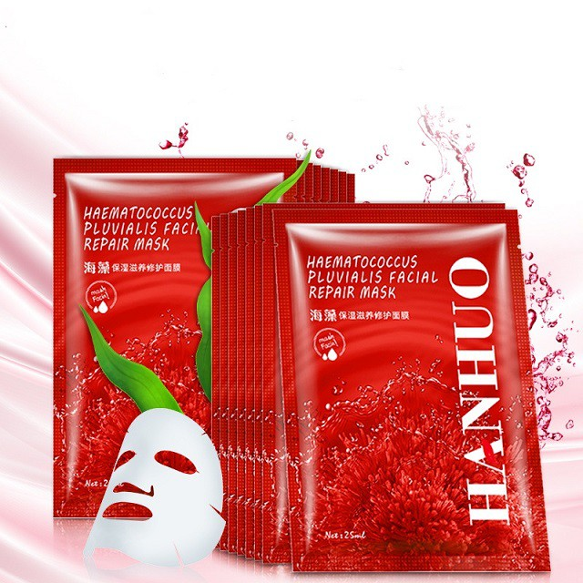 [ READY STOCK ]  Facial Seaweed Repair Whitening Brightening Oil Control Face Skin Care Mask Makeup Jualan Murah Makeup