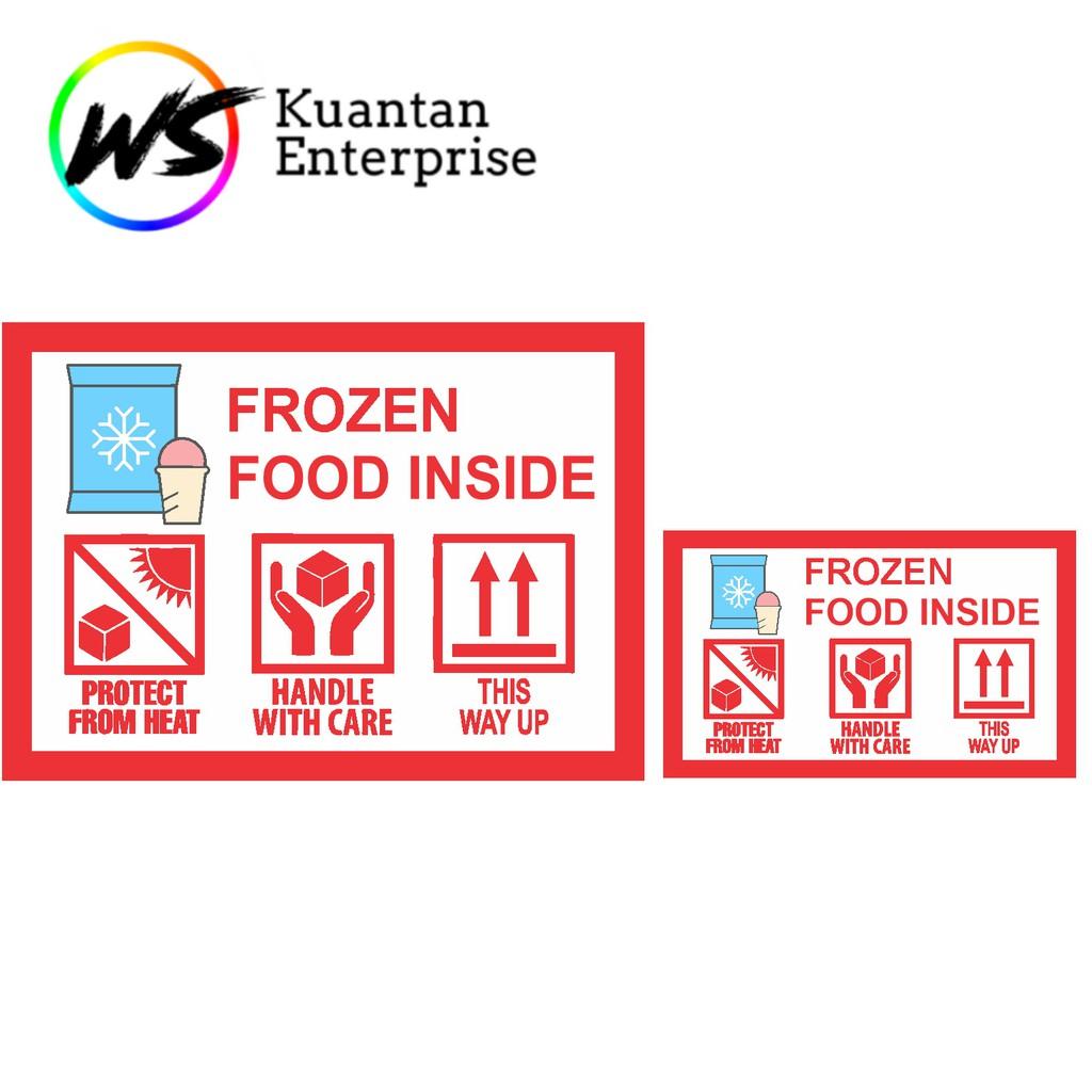【100% Ready Stock】WATERPROOF STICKER Frozen Food Sticker / Makanan Sejuk Sticker / Urgent Courier Label Sticker-100pc