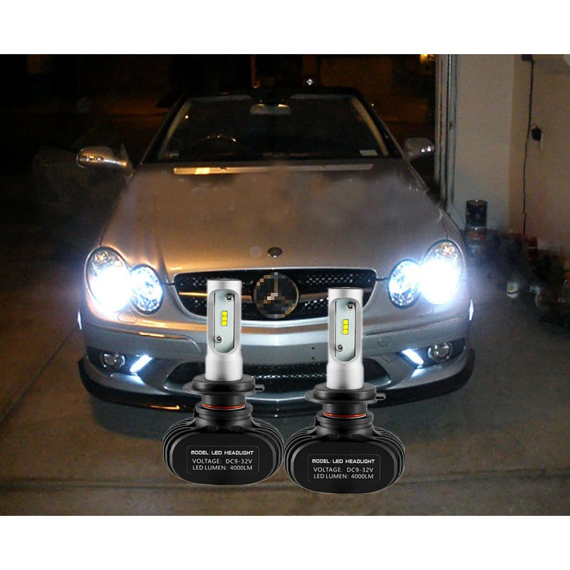 4 Light Bulbs LED White Night Lights Lighting Plate Mercedes Class CLK W209