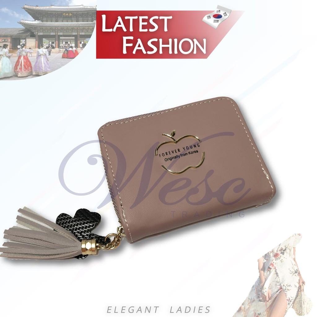 Korean Designer Fashion Latest Trendy Ladies Compact Wallet (Purple)