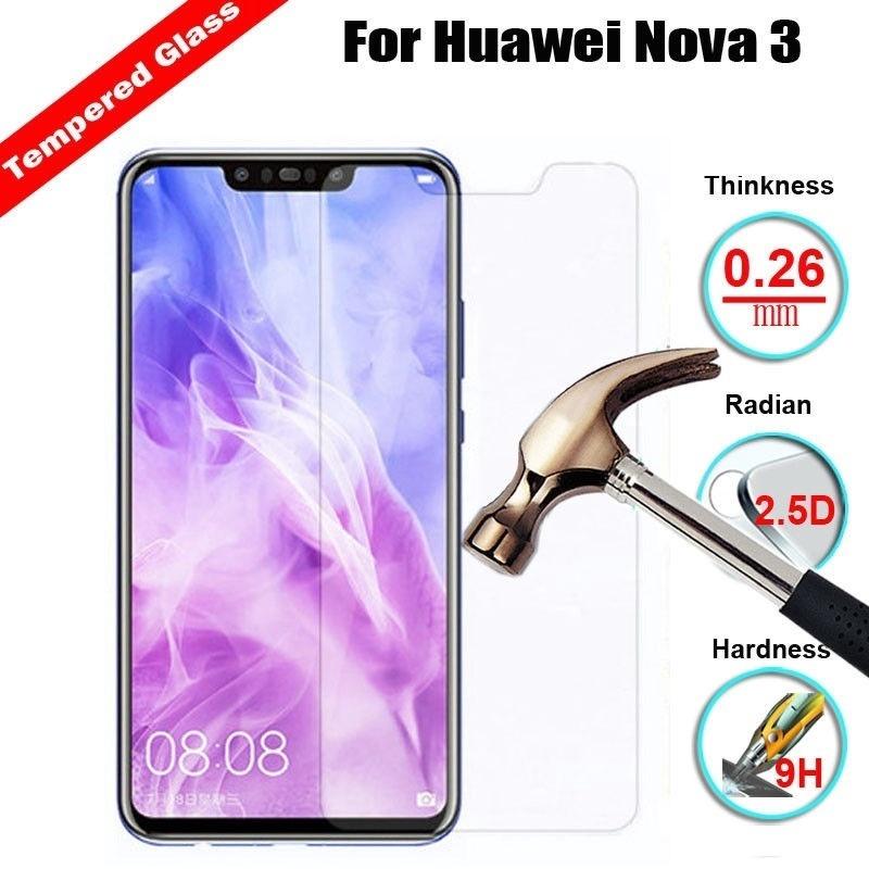 Huawei Nova 2i 3i 3 3e Honor 10 9 8x P20 Pro Tempered Glass Screen Protector