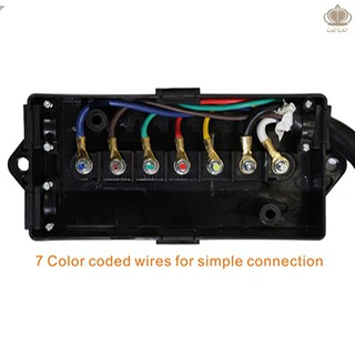 7-Way Trailer Connector Plug Cord 7-Pin Wiring Harness with Junction on