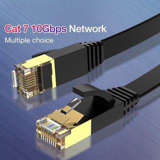 Color : Color6 Internet Cable 1m Gold Plated Head CAT7 High Speed 10Gbps Ultra-Thin Flat Ethernet Network LAN Cable LAN Cable
