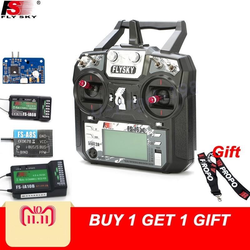 Flysky FS-i6X 10CH RC Transmitter With FS-iA6B FS-iA10B FS-X6B FS-A8S  Receiver