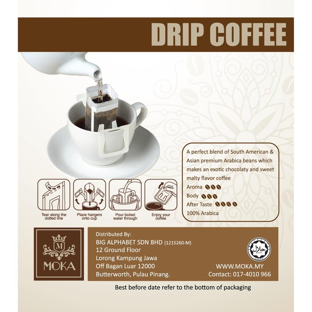 MOKA Hand Drip Coffee Bag ( 10 x 12g/bag ) | Shopee Malaysia