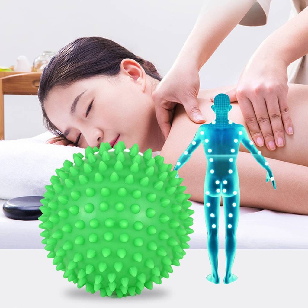 Spiky Massage Trigger Point Sport Fitness Roller Yoga Ball Hand Foot Pain  Reliev abc