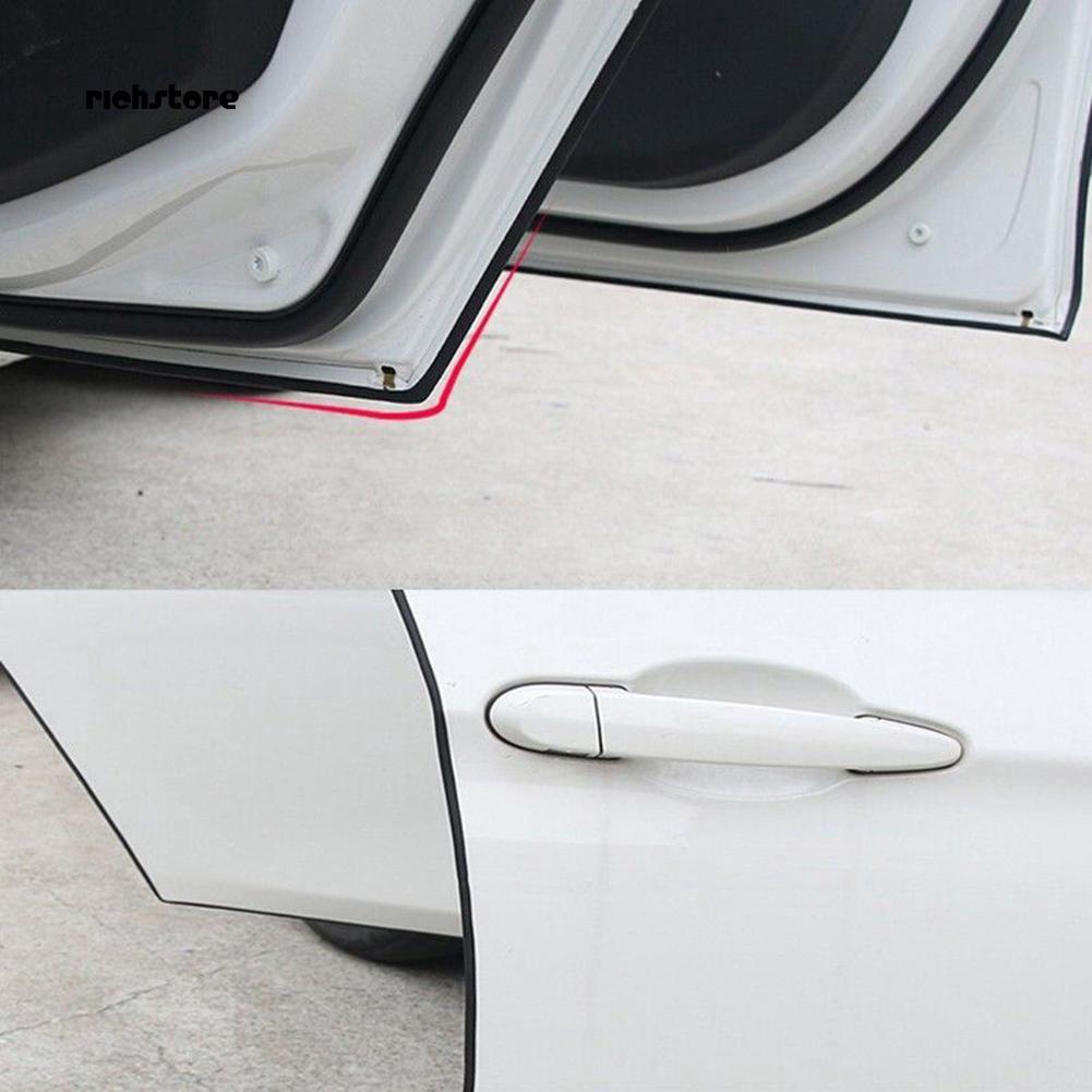 5M White Car Door Edge Lip Strip Guard Protector Moulding Trim Anti Dent DIY