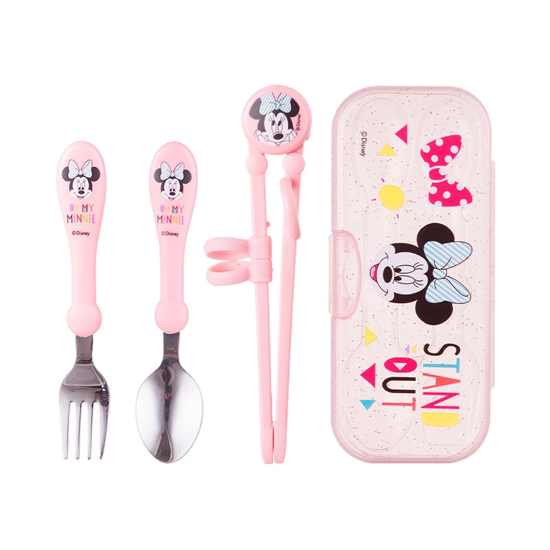 Buy 3 Get 1 Free=6 Spoons /& Forks Reusable Baby Utensils Cutlery Set Girls Kid