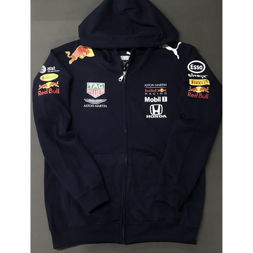F1 2020 Honda Aston Martin Red Bull Racing Team Mens Long Sleeve Full Zip Hoodie Shopee Malaysia