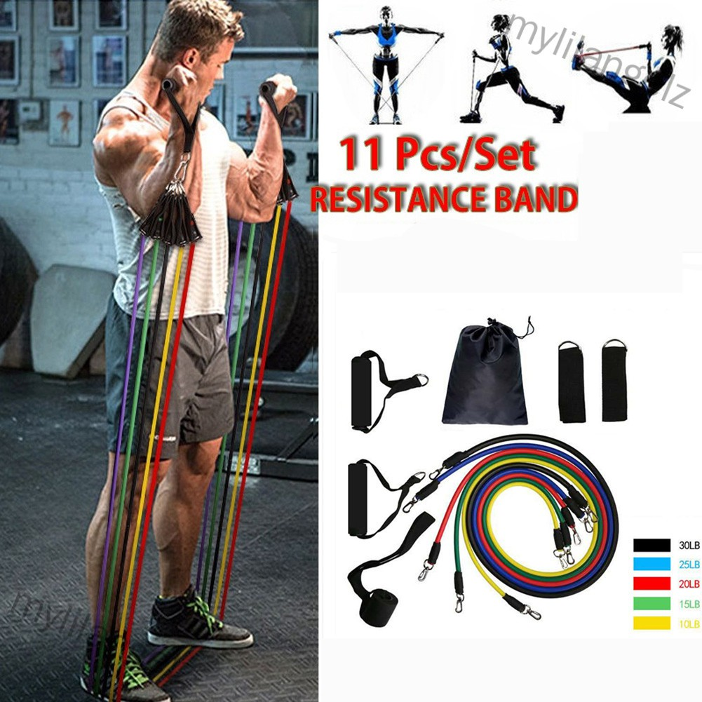 Mylilangelz Pull Rope Fitness Exercises Resistance Bands Latex Excerciser Body Training Rope