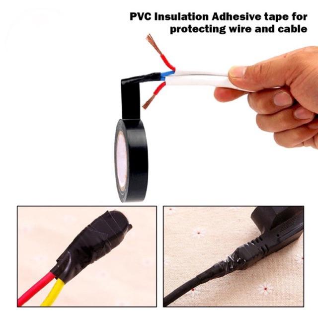 Black insulating tape / pvc electric wire tape / Black tape  (18mmx 7yard)