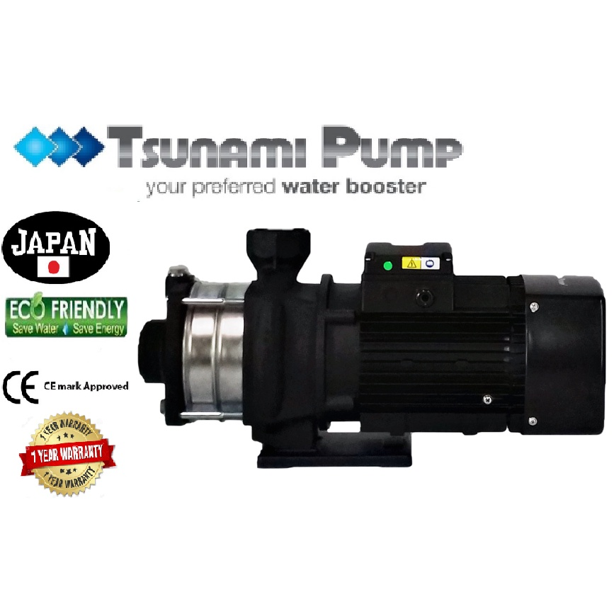TsunamiCMH12-30T-THREE PHASE Horizontal Multi-Stage WaterPressure Pump BoosterSuitable Hotel & Motel【1 Year Warranty】