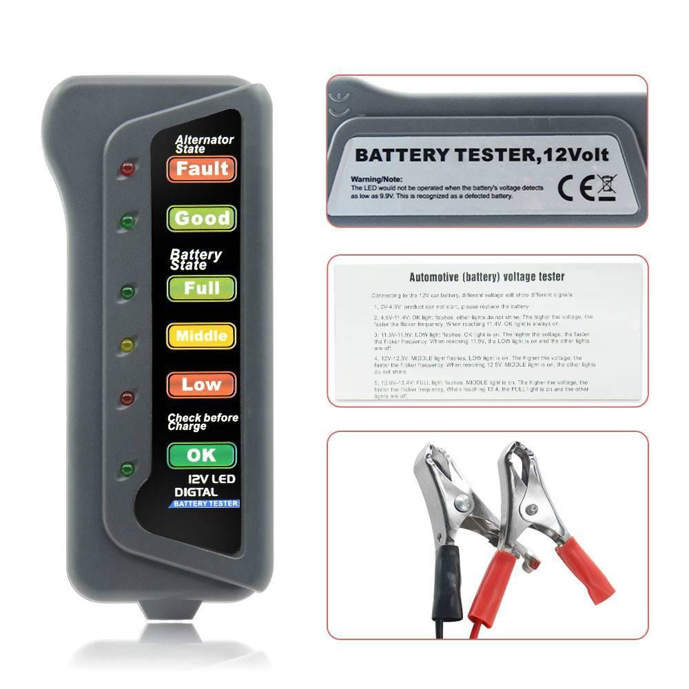 Tirol 12 Volt Led Battery And Alternator Tester For Cars And Trucks