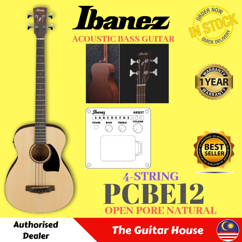 Ibanez Pcbe12-opn Acoustic Bass Guitar With Pick-up Acoustic Electric Guitars B Stock