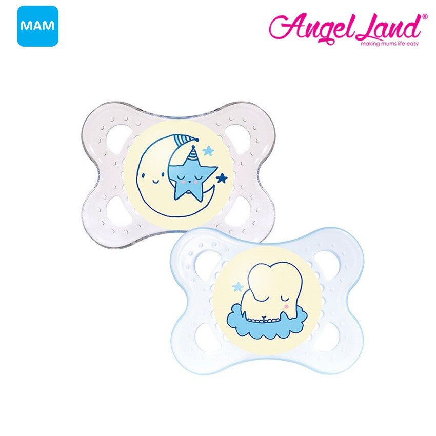 [NEW] MAM Night Twin Pacifiers (2-6m+) A132
