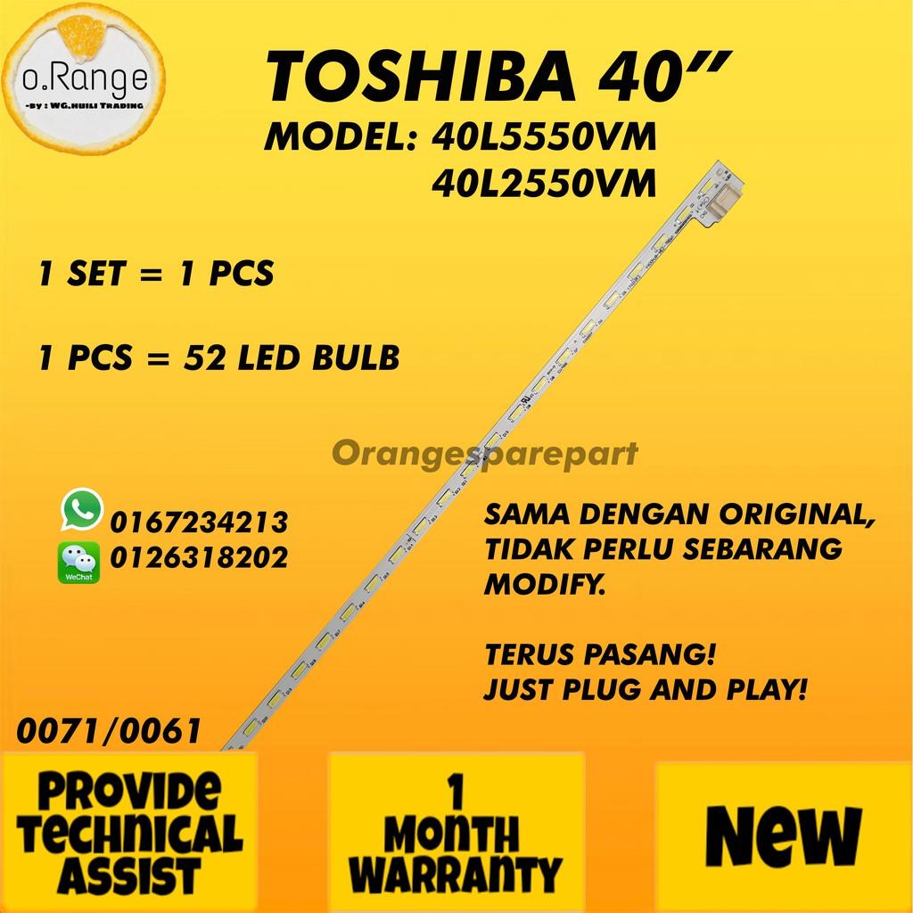 "40L5550VM / 40L2550VM TOSHIBA 40"" LED TV BACKLIGHT / LAMPU TV (READY STOCK)"