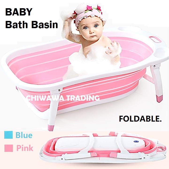 Foldable Newborn Baby Bathtub Folding Baby Bath Tub Shower Basin Infant Washbasin Toiletries Bathroom