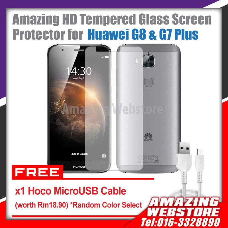Huawei G8 & G7 Plus Amazing Elite HD Tempered Glass Screen Protector Combo1