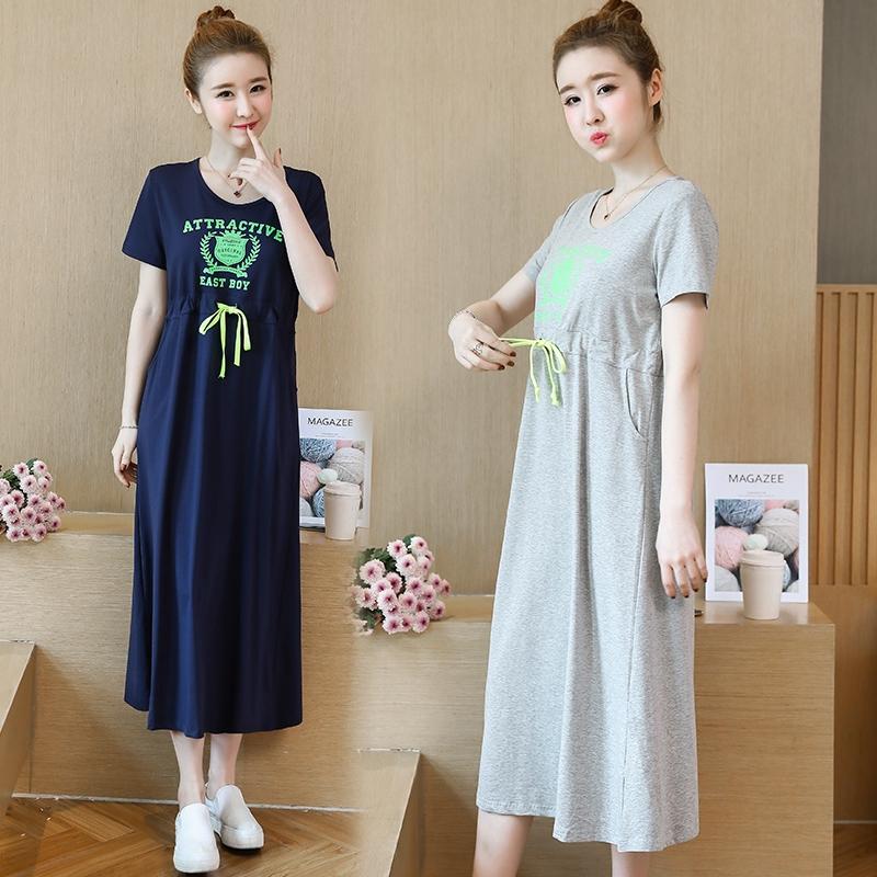df4c637d20539 ☜☇♧Pregnant women's summer clothes 2019 fashion new spring dress  breastfeeding