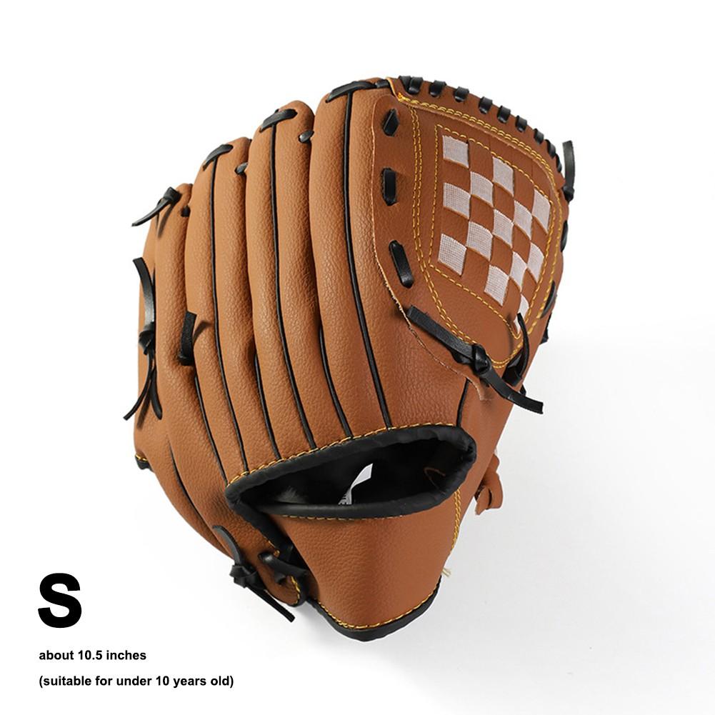 10.5/'/'//11.5/'/'//12.5/'/' Left-Handed Sport Glove Men Double PVC Brown Baseball Glove