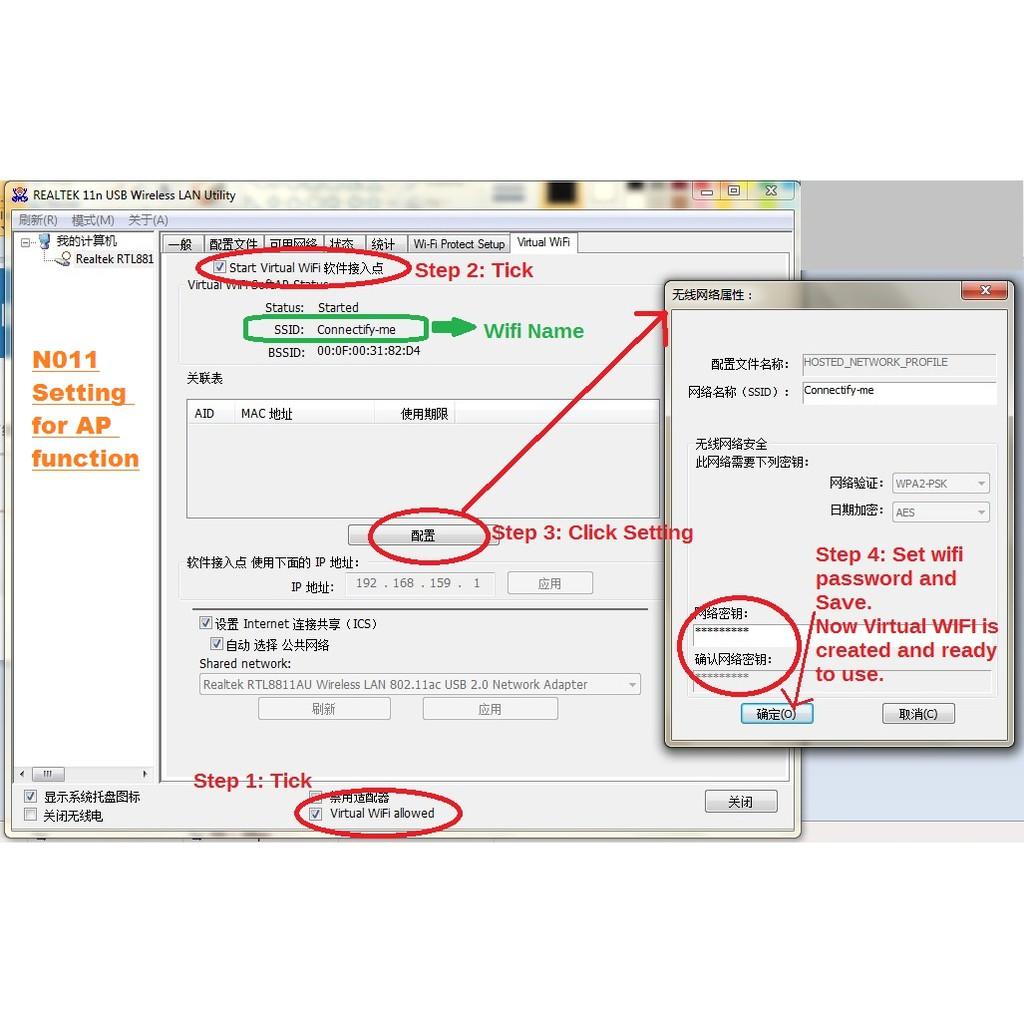 ❤ Mediatek Ranlink 🔥 Mini Wireless Wifi 150Mbps N USB Adapter