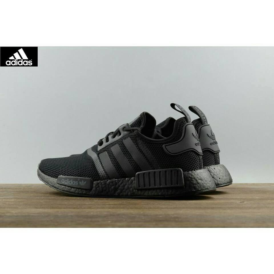 Adidas NMD R1 Triple Black S31508 all black webshoe sneakers