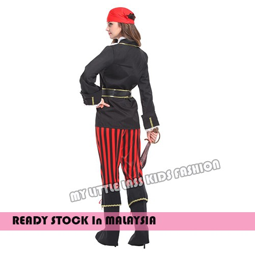 Adult Ms.Pirate Halloween Cosplay Pretend Play Party Dress