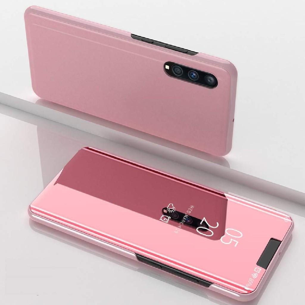 Samsung Galaxy A50 Case Makeup Mirror Cover Kickstand Smart View Casing