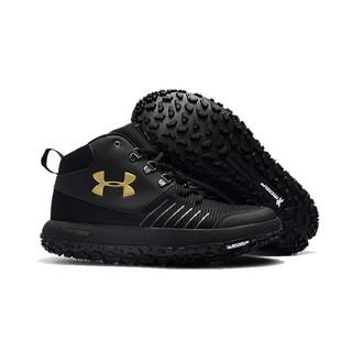 quality design 4570f b561c Under Armour UA Fat Tire GTX Black Gold Trail Running Shoes ...