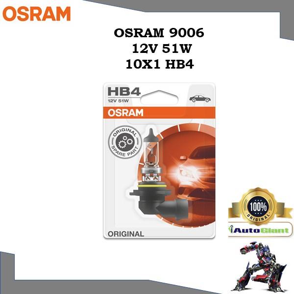 OSRAM 9006 - 12V 51W (HB4)  LAMPU DEPAN KERETA