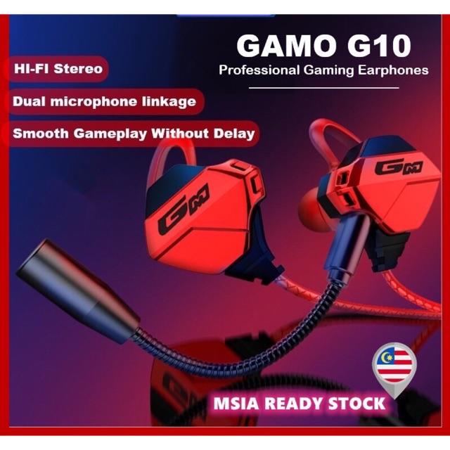 【Ready Stock】Gaming Headphone Stereo Bass Earphone Sport PUBG Earbuds Mic Mobile Legend CS Go PS4