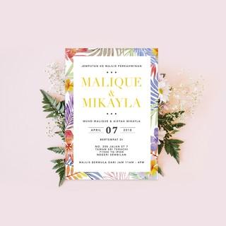 Softcopy Upah Design Kad Kahwin Wedding Invitation Card 02 Graphic Design Services Shopee Malaysia