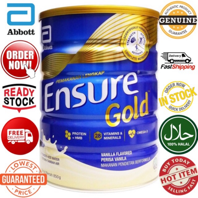 Ensure Gold 850g Vanila (Exp:11/2020)
