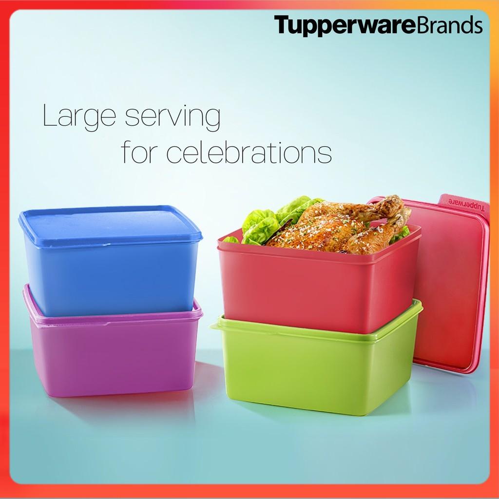 Tupperware Snack & Stack (2.5L) - Bekas Tupperware - Tupperware Lunch Box - Tupperware Snack Set