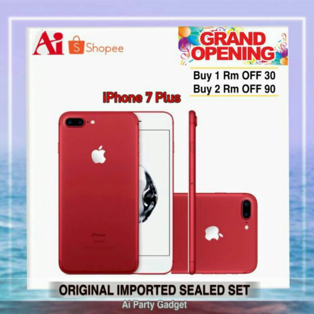 Apple iPHONE 7 Plus 256GB 128GB 32GB LTE 4G 5 5inch NEW SET Original Seal  Box