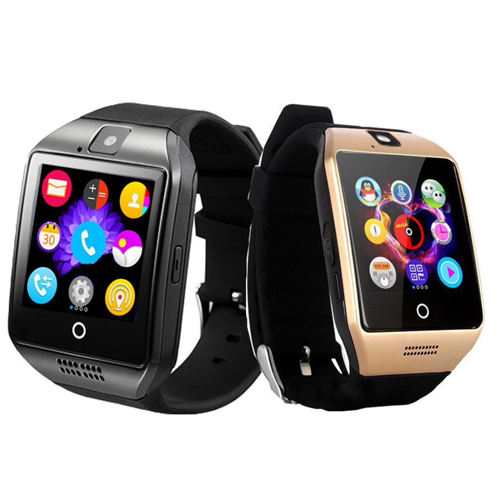 Q18 Smart Watch Support TF Sim Card Camera For Android Phone Bluetooth  Smartwatch