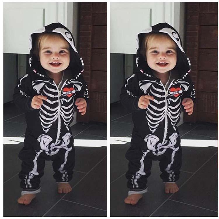 NewYear  Newborn Baby Girl Boy Costume Skeleton Romper Bodysuit Jumpsuit Outfit