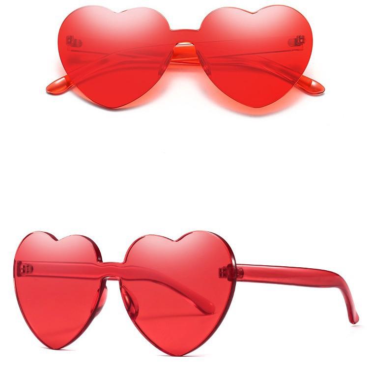 Peach Sunglasses Love Sun Glasses Trend Nothing Frame Lin Tai Piece  Sunglasses