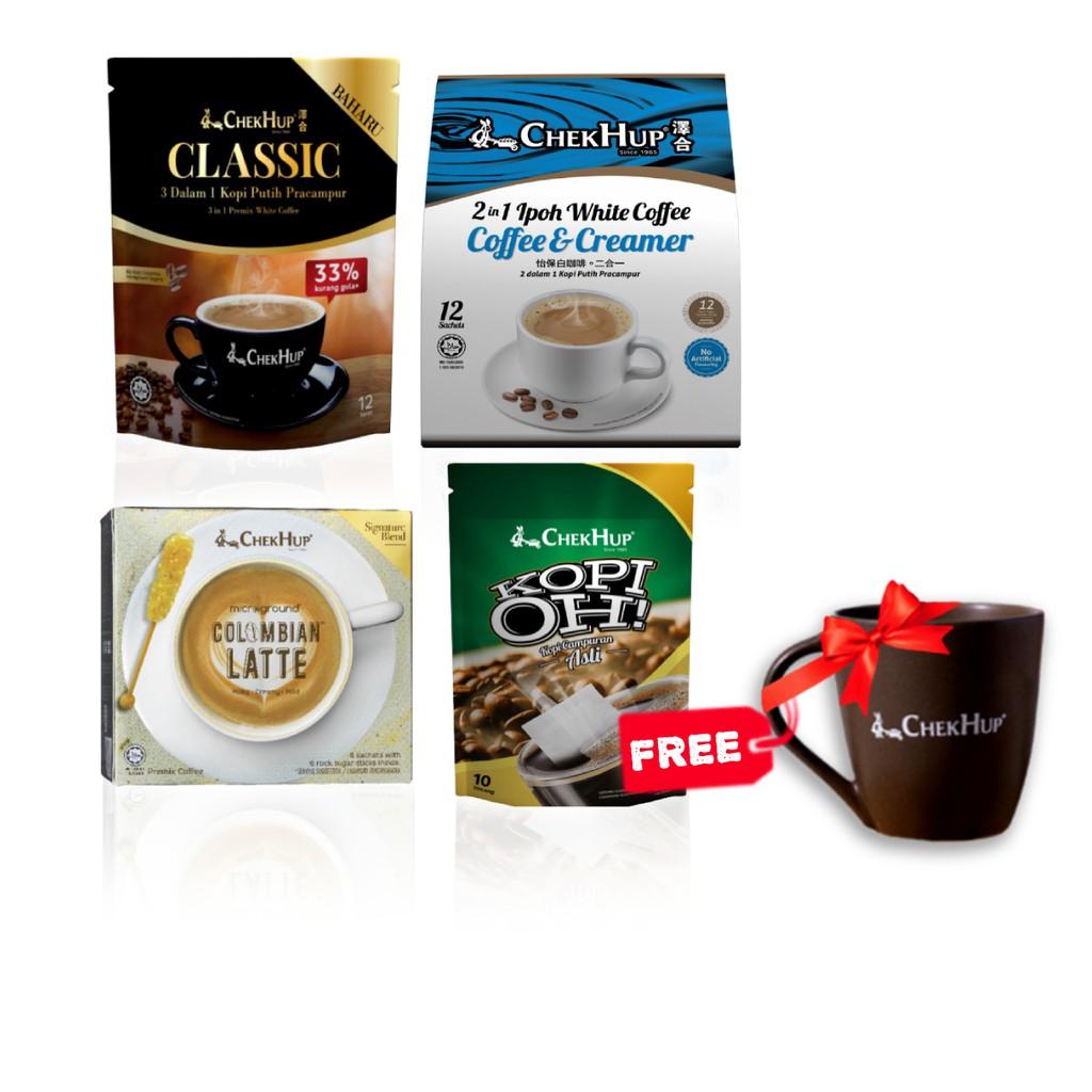 FREE Mug Chek Hup Starter Bundle 3 (2 in 1 + Classic + Latte + Kopi Oh! Original)