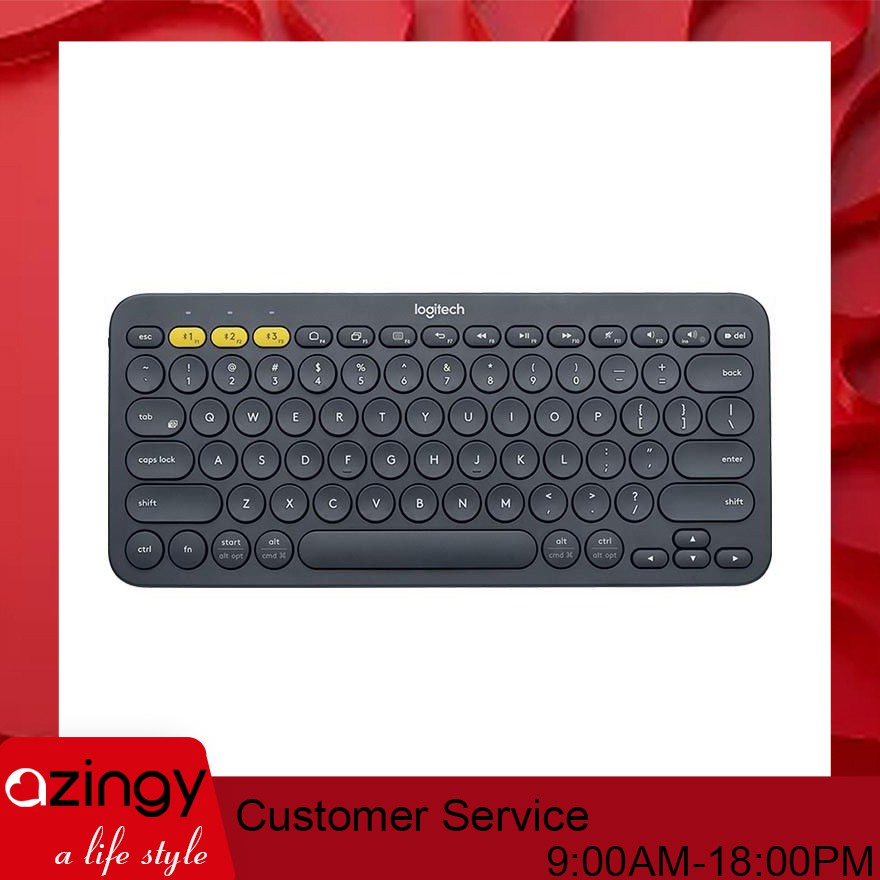 14a227dc45b Logitech K380 Multi-Devices Bluetooth Keyboard Black For iOS Android ...