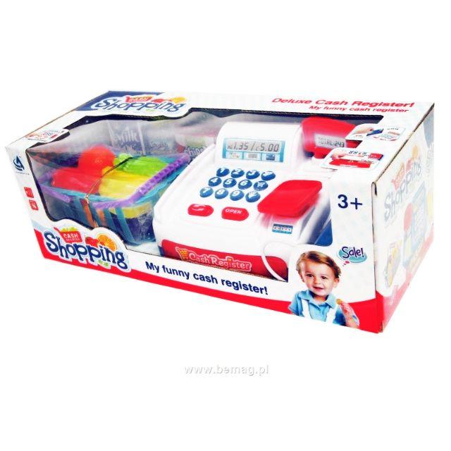 Big Set Deluxe cash register shopping Games funny toys for kids Cash Register Play Set Cashier Toys Cash Register
