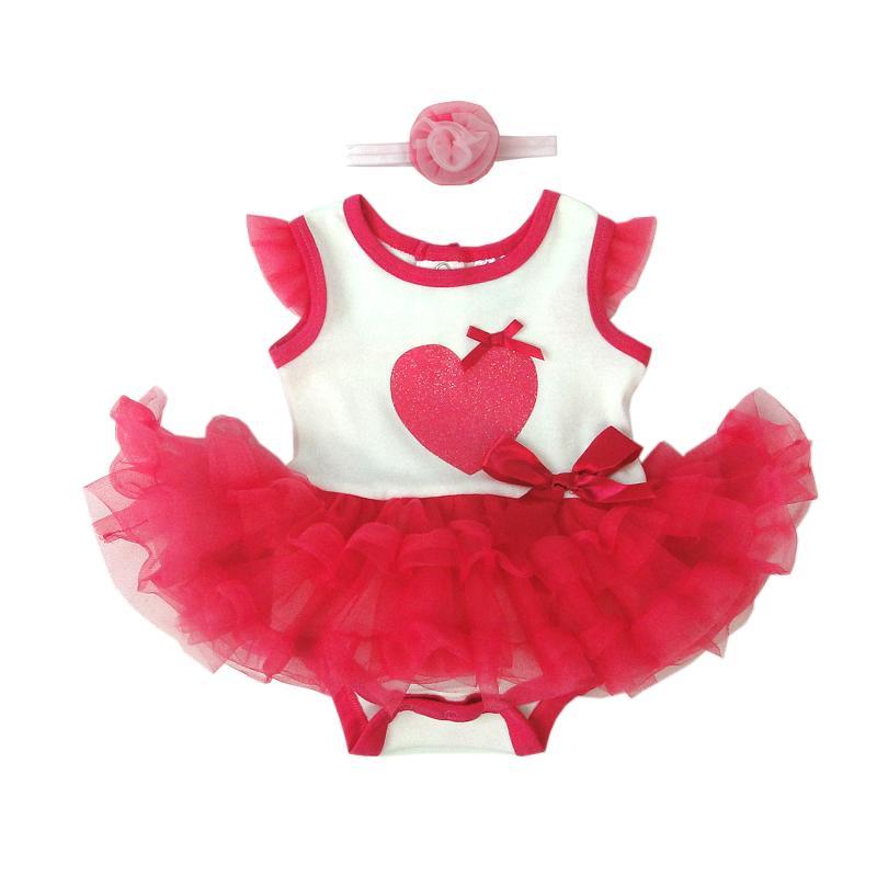6a9e0ca0b1981 Print Heart Ruffles Summer Kids Girls Dress Tulle Party Princess ...