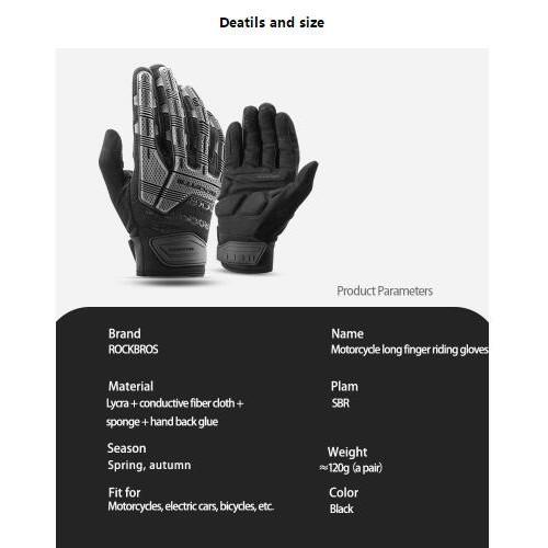 New Black Tactical Mechanic Biker Motorcycle Pro Gloves Glove Pair Sz M L XL 2XL