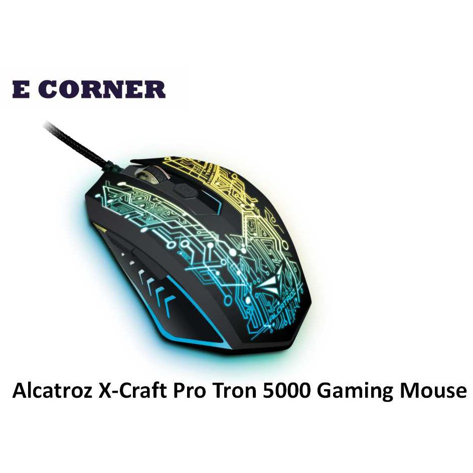 Alcatroz X-Craft Pro (4800 CPI) Gaming Mouse Free Mousemat