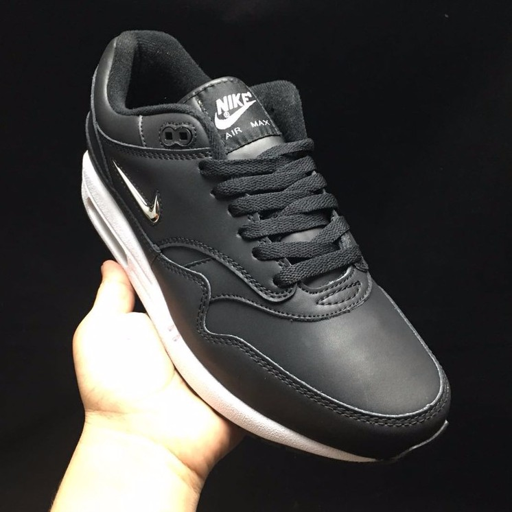 Nike Air Max 1 SC Jewel University Black and silver re Engraved running shoes