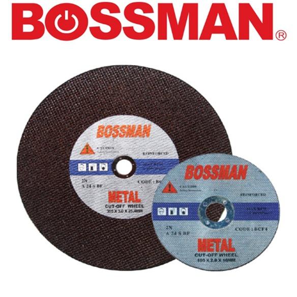 BOSSMAN BCF4 BCF7 BCF14 BCF16 DIAMOND CUTTING WHEEL (DOUBLE FIBRE) WHEEL DISCGRINDING WHEEL  ACCESSORIES EASY USE SAFETY